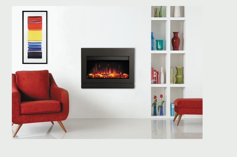 Moderne Gazco Riva2 670 vegghengt/innebygd elektrisk peis | Arne Skarra PI-34