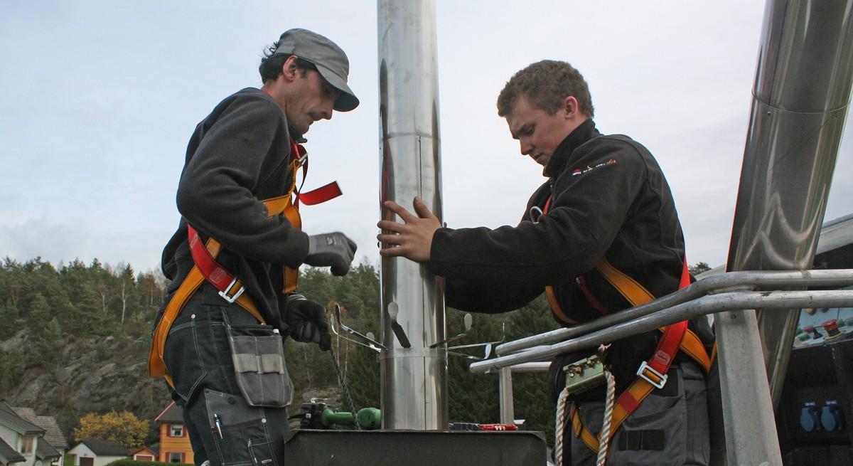 Rehabiliering av piper og skorstein